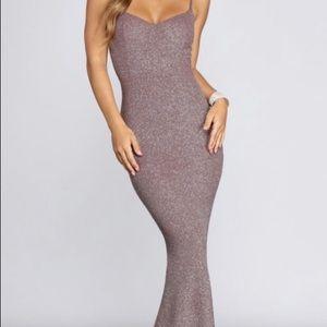 Formal glitter dress
